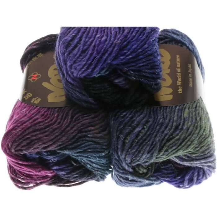 NORO Silk Garden Farbe 395 Purple, Black, Blue, Violet