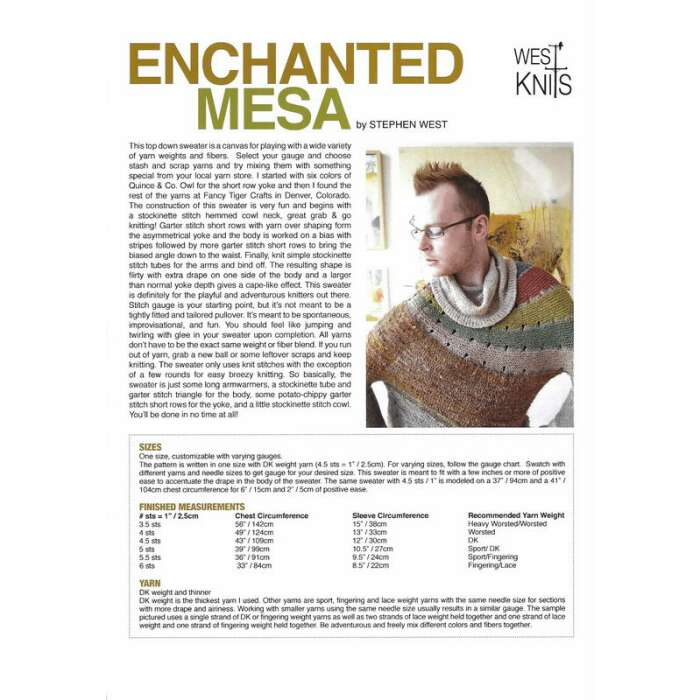Stephen West - Enchanted Mesa - gedruckte...