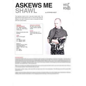 Stephen West - Askews Me Shawl - gedruckte...