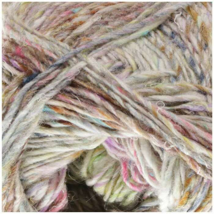 NORO Silk Garden Sock Solo Farbe 001 Natural, Soft Brown, Soft Pink