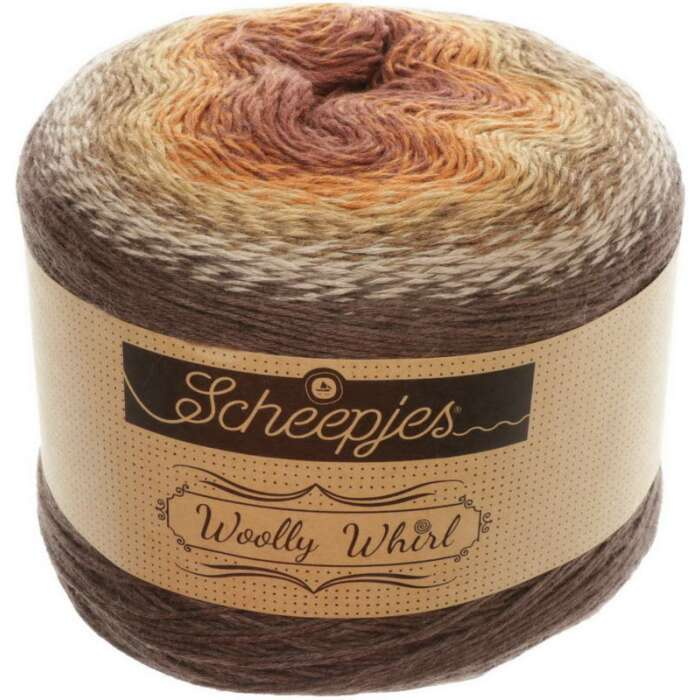 Scheepjes - Woolly Whirl Farbe 471 Chocolate Vermicelli