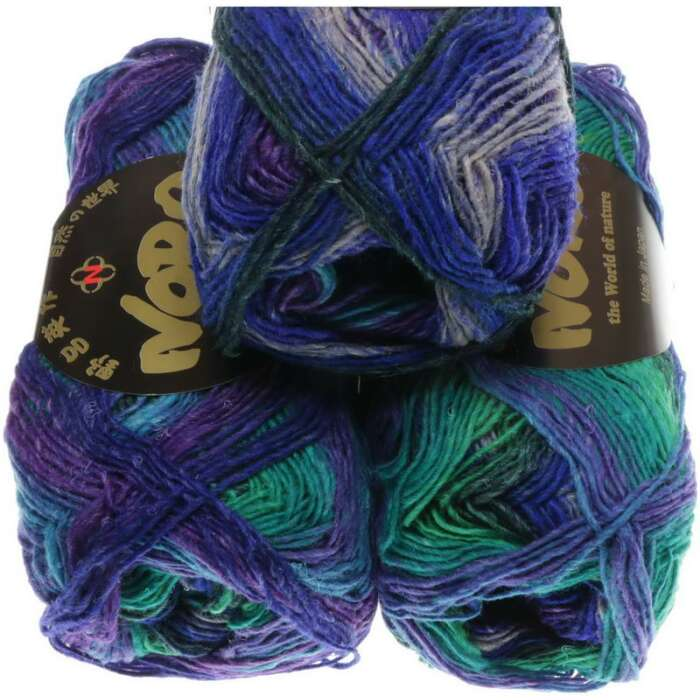 NORO Silk Garden Sock Farbe 008 Royal, Purple, Green